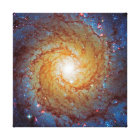 Messier 74 Spiral Galaxy Outer Space Photo Canvas Print