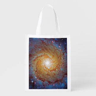 Messier 74 Spiral Galaxy Market Tote