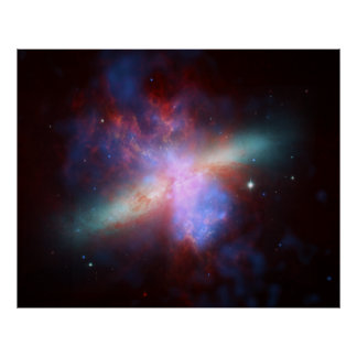 Messier 82 NGC 3034 Cigar Galaxy M82 Composite Poster
