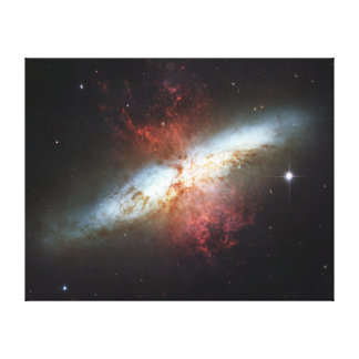 Messier 82 NGC 3034 Cigar Galaxy M82 Stretched Canvas Print