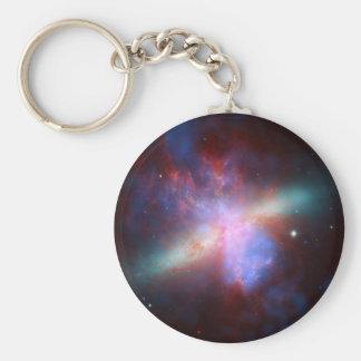 Messier 82 Space Galaxy Keychain