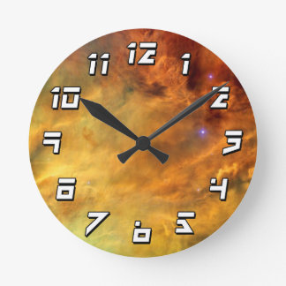 Messier 8 Lagoon Nebula Wall Clocks
