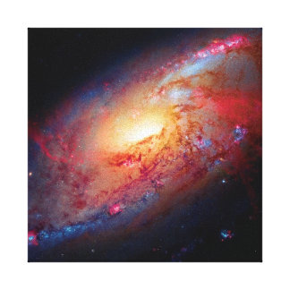 Messier M106 Stretched Canvas Print