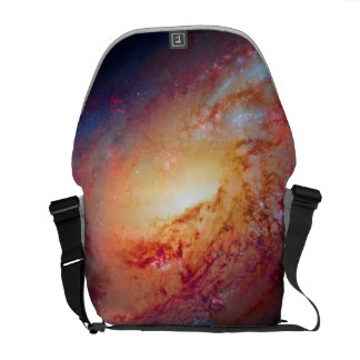 Messier M106 Spiral Galaxy Messenger Bag