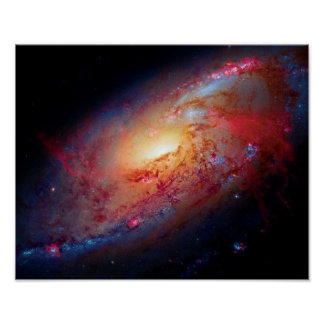 Messier M106 Spiral Galaxy Outer Space Photo Poster