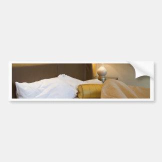 Messy bedroom bumper sticker