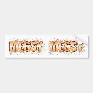 Messy Bubble Tag Bumper Sticker
