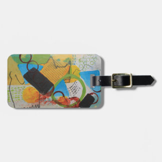 Messy Circles Luggage Tag