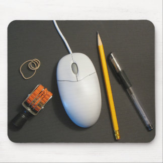 Messy Desk Mouse Pad (Black)