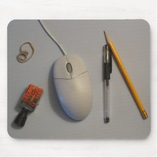 Messy Desk Mouse Pad Gray