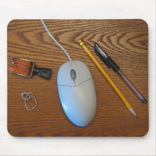 Messy Desk Mouse Pad (Wood)