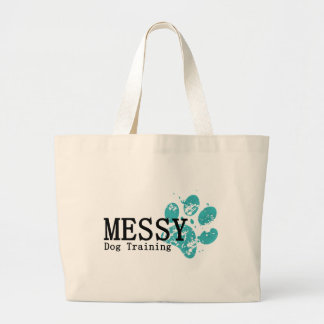 MESSY Dog Training Large Tote Bag