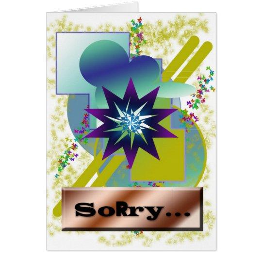 Messy graphic artist birthday greeting card. card