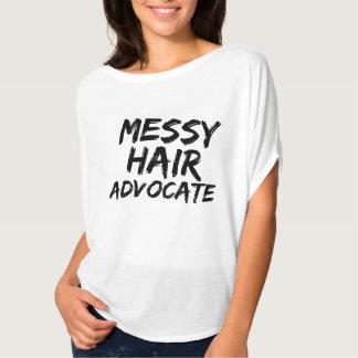 Messy hair advocate tshirt