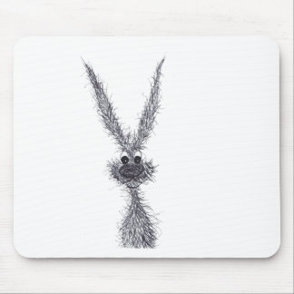MESSY HARE MOUSE PAD