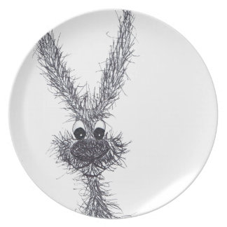 MESSY HARE PLATE