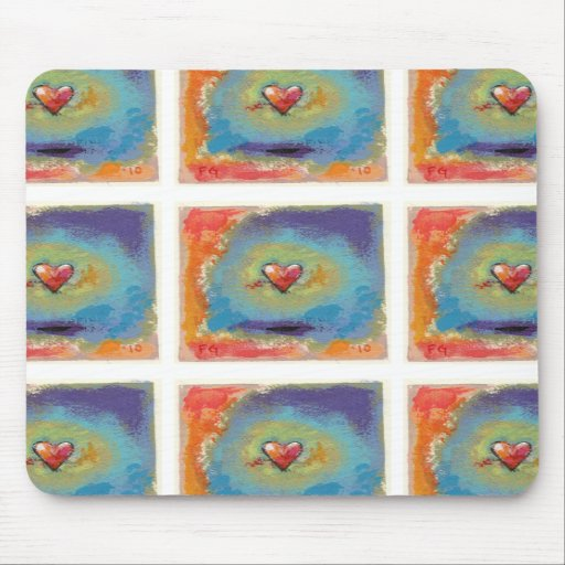 Messy Heart fun colorful miniature painting art Mousepad
