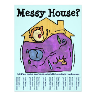 Messy House Flyer