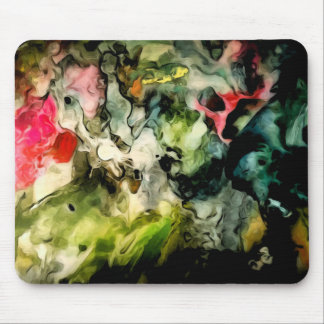 Messy Palette Abstract Pattern Mouse Pad