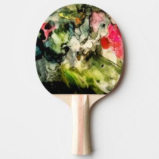 Messy Palette Abstract Pattern Ping Pong Paddle
