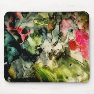 Messy Palette Cool Abstract Pattern Mouse Mat