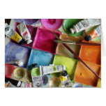 Messy Palette ~ Photo Note Card