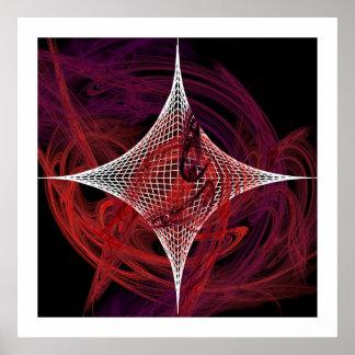 Messy Star Invert Print