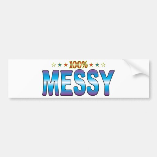 Messy Star Tag v2 Bumper Sticker