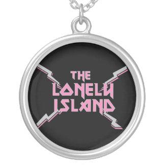 Metal 2 round pendant necklace
