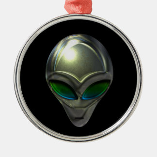 Metal Alien Head 02 Ornament