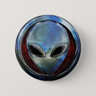 Metal Alien Head 03 Button