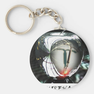 Metal Apple Ban Mirena IUD Keychain