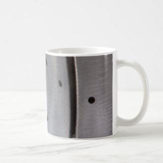 Metal art basic white mug
