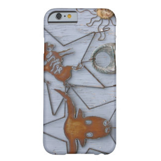 Metal art souvenirs on outdoor wall barely there iPhone 6 case