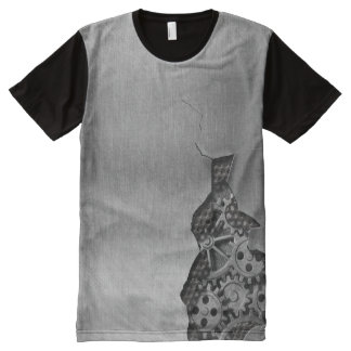 Metal background with mechanical damage All-Over print T-Shirt