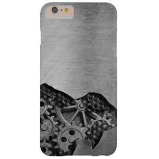 Metal background with mechanical damage barely there iPhone 6 plus case