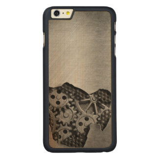 Metal background with mechanical damage carved® maple iPhone 6 plus case