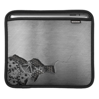 Metal background with mechanical damage iPad sleeve