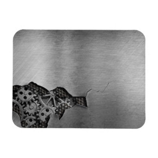 Metal background with mechanical damage magnet