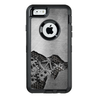 Metal background with mechanical damage OtterBox iPhone 6/6s case