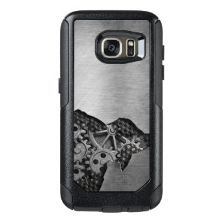 Metal background with mechanical damage OtterBox samsung galaxy s7 case