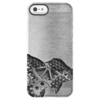 Metal background with mechanical damage permafrost® iPhone SE/5/5s case