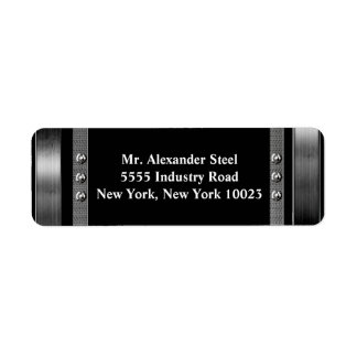 Metal Border With Bolts Labels