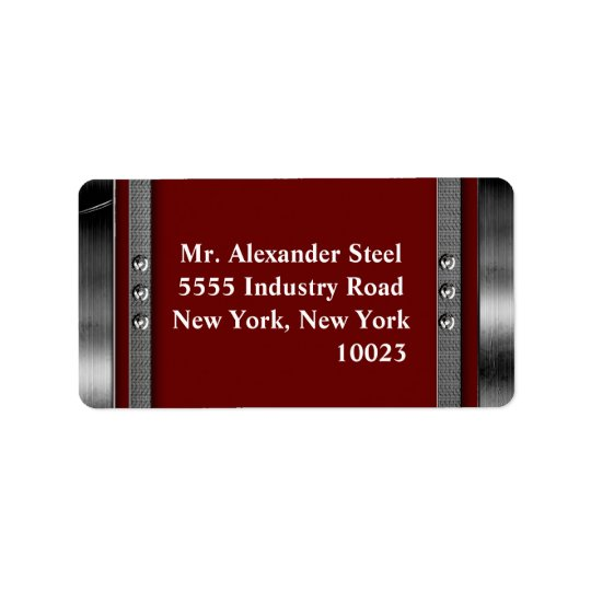 Metal Border With Bolts Return Address Labels