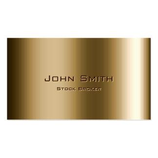Metal Bronze Stock Broker Business Card