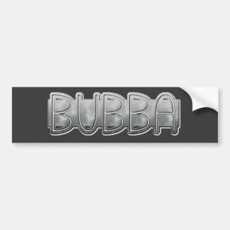 Metal BUBBA - Redneck Bling Bumper Sticker