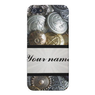 Metal Button Collection iPhone 5/5S Covers