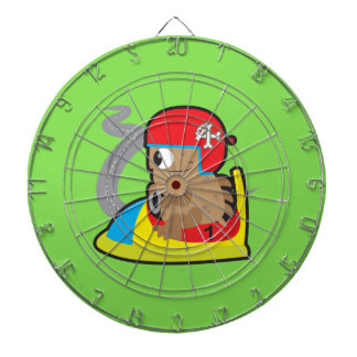 Metal Cage Dartboard with monster driving