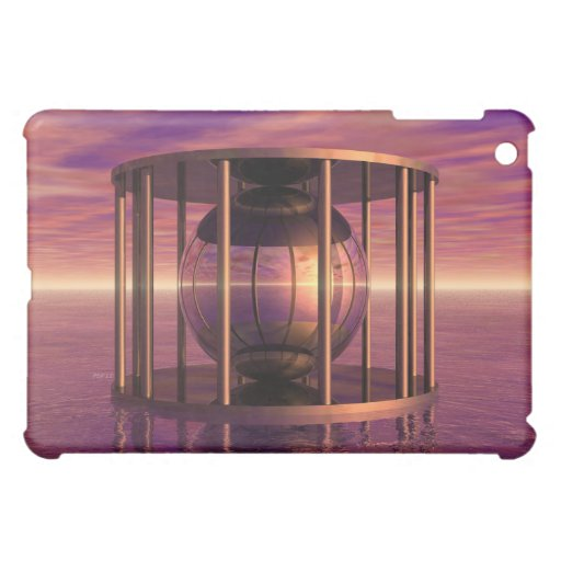 Metal Cage Floating In Water iPad Mini Covers