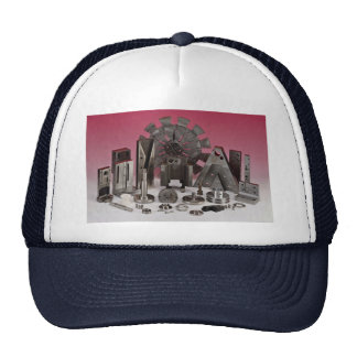 Metal castings for automotive trucker hats